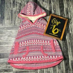 Braylon Poncho Matilda Jane Sweater hoodie Size 6